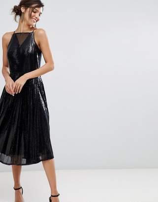 Coast Vivianna a-line sequined dress