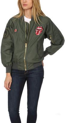 Madeworn Rock Madeworn Rolling Stones Sequins Bomber Jacket
