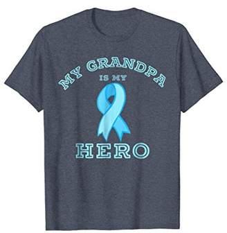 Prostate Cancer Ribbon T-shirt: My Grandpa is my Hero Tee