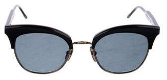 Thom Browne Gold Plated Cat-Eye Sunglasses