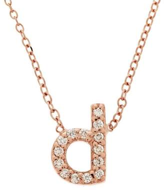 KC Designs Rose Gold Diamond Letter D Necklace