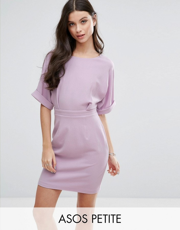 AsosASOS Petite ASOS PETITE Mini Smart Woven Dress with V Back