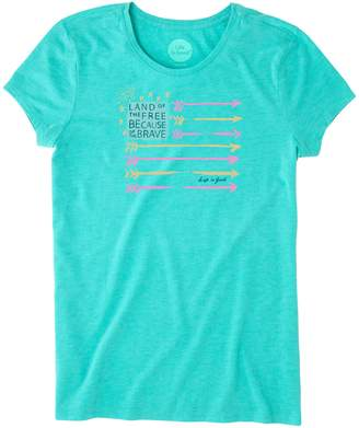 Life is Good Flag Aly Raisman Women's Tee