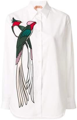 No.21 bird appliqué shirt