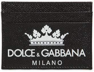 Dolce & Gabbana Crown Dauphine Leather Card Holder