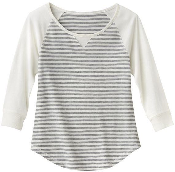 Mudd silver striped tee - girls plus