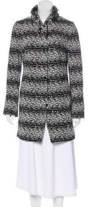 Akris Punto Intarsia Short Coat