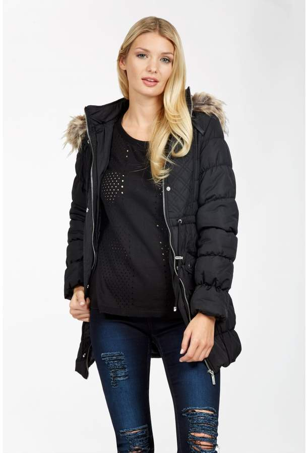 Long Quilted Puffa Coat