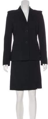 Paco Rabanne Wool-Blend Pinstripe Skirt Suit