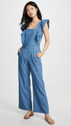 2cba89202446 Womens Chambray Jumpsuit - ShopStyle