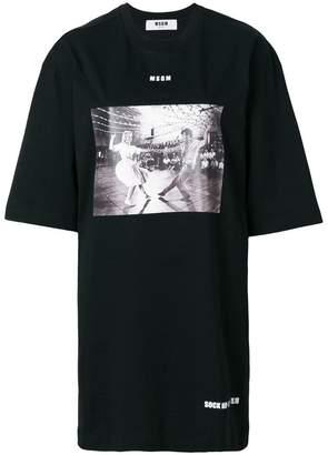 MSGM photographic print T-shirt dress