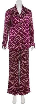 Olivia von Halle Silk Pajama Set