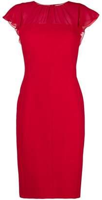 Max Mara chiffon panel dress