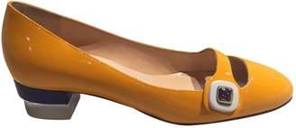 Christian Louboutin Yellow Patent leather Ballet flats