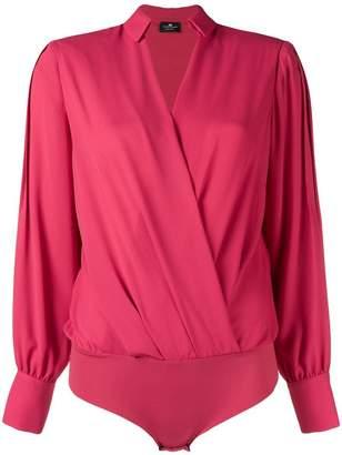 Elisabetta Franchi V-neck wrap blouse