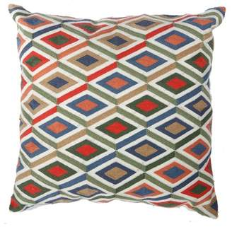 A&B Home Embroidered Throw Pillow, Multicolor, 18 by 18-Inch