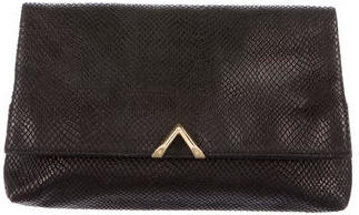 Reiss Leather Fold-Over Clutch $125 thestylecure.com