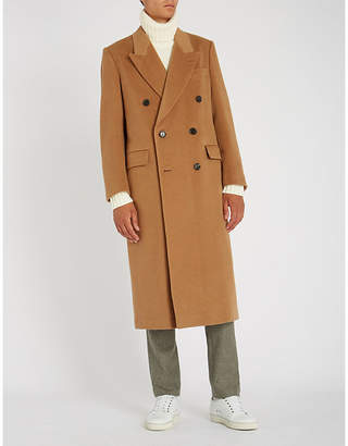 Brioni Double-breasted camel-hair coat