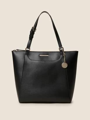 Donna Karan Donnakaran Medium Sutton Leather Tote Black N/S