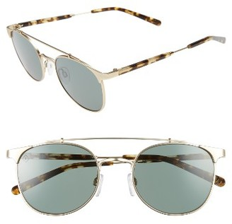 Women's Raen Raleigh 51Mm Polarized Sunglasses - Gold/ Brindle $200 thestylecure.com