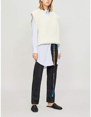 Loewe Cord-embroidered mid-rise relaxed-fit jeans