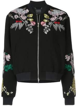 Markus Lupfer floral embroidered bomber jacket