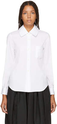 Comme des Garcons White Single Pocket Shirt