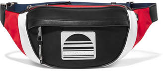 Marc Jacobs Sport Color-block Leather-trimmed Twill Belt Bag - Black