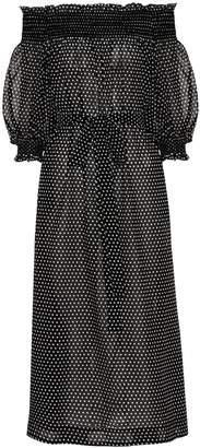 Lisa Marie Fernandez Off-the-shoulder cotton dress