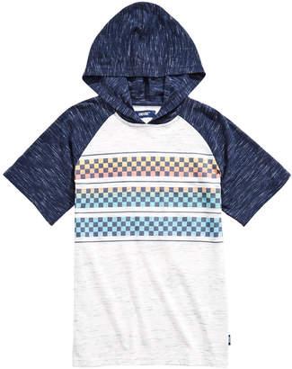 621f1f1cf Univibe Big Boys Follow Colorblocked Checker-Stripe Hooded Raglan-Sleeve T- Shirt