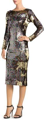 Dress the Population Emery Long-Sleeve Sequin Dress