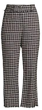Max Mara Women's Tweed Fringed Hem Cropped Trousers