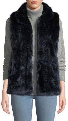 Couture Fabulous Furs Faux-Fur Stand-Collar Vest