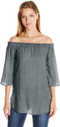 Blu Pepper Women's Long Sleeve Off Shoulder Top