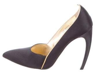 Walter Steiger Satin Pointed-Toe Pumps