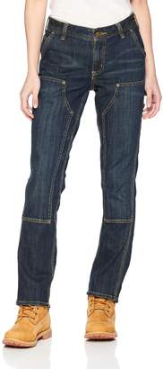 Carhartt Women's Petite Slim Fit Double Front Denim Dungaree