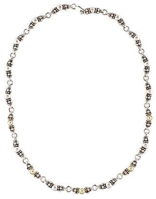 Lagos Two-Tone Caviar Link Chain Necklace