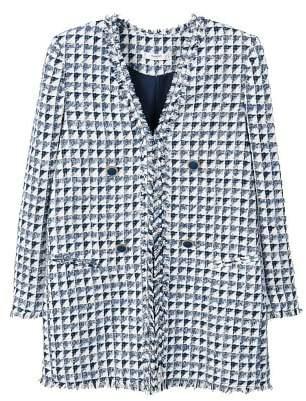 MANGO Bicolor tweed blazer