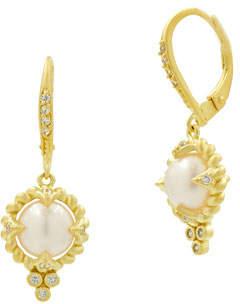 Freida Rothman Textured Small Drop Earrings