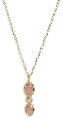 Anna Beck Guava Quartz Pendant Necklace