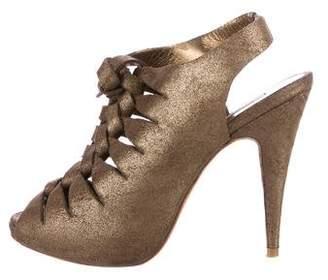 Cynthia Vincent Nubuck Platform Sandals