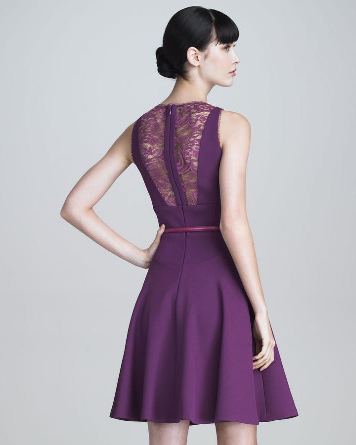 Elie Saab Sleeveless Crepe Flounce Dress