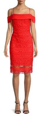 Laundry by Shelli Segal Lace Cold Shoulder Dress