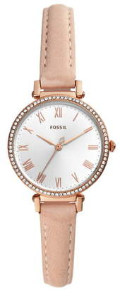 Fossil Kinsey Leather Strap Watch, 28mm