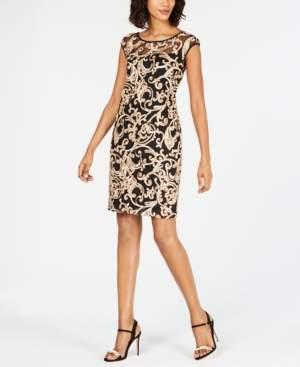 Connected Soutache Sheath Dress