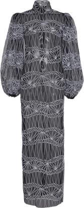Sandra Mansour Marimba Patterned Tulle Dress