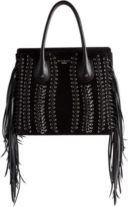 Balmain Fringe Leather Top Handle Bag