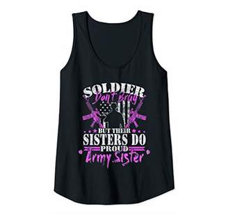 Womens Soldiers Don't Brag Their Sisters Do Proud Army Sister Gifts Tank Top