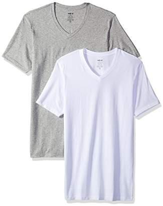 Naked Men's Deep V Neck Soft Stretch Cotton T-Shirt