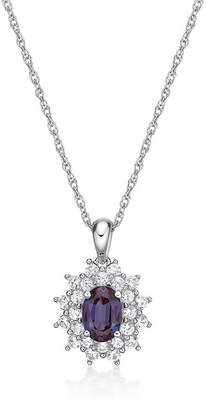 FINE JEWELRY Womens Lab Created Blue Alexandrite Sterling Silver Pendant Necklace